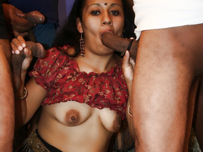 Indian make love party. Indian whore Lashki goes for a gangbang party and got all of her holes fuck in this sex movie