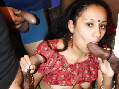 Hardcore indian group sex. Wild Indian Ishu goes for a kinky gangbang session and got all of her holes make love in this sex video
